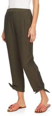 1 STATE 1.STATE Flat Front Tie Hem Pants
