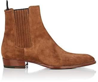 Saint Laurent Men's Wyatt Suede Chelsea Boots - Brown