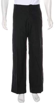 Giorgio Armani Woven Flat Front Pants