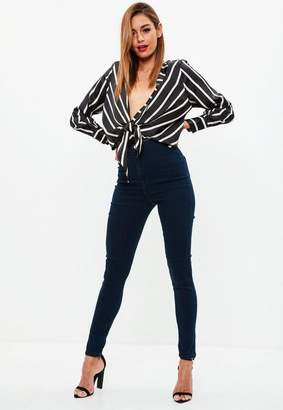 Missguided Navy super Stretch Skinny Jeans