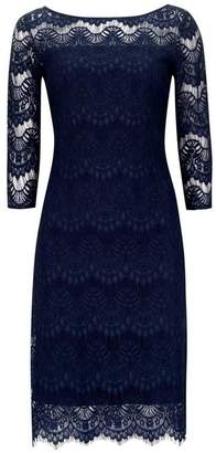 Wallis Navy Lace Shift Dress