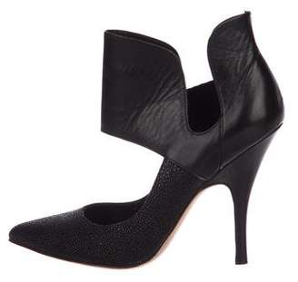 Jean-Michel Cazabat Embossed Leather Pumps
