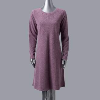 Vera Wang Women's Simply Vera Luxe Fit & Flare Sweater Dress