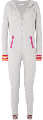 Chinti and Parker Hooded Cashmere Onesie - Gray