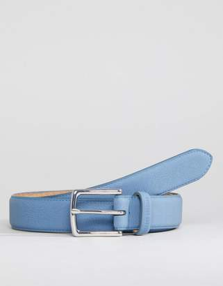 Ben Sherman Skinny Leather Belt Blue