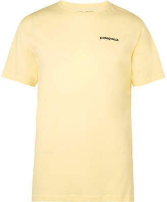 Patagonia P-6 Logo-print Organic Cotton-jersey T-shirt - Yellow