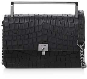 Botkier Lennox Small Croc-Embossed Leather Crossbody
