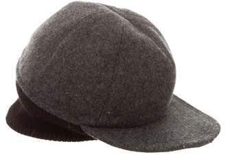Prada Wool Rib Knit-Trimmed Hat