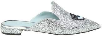 "Chiara Ferragni Sabot In Silver Glitter ""flirting Eyes"""