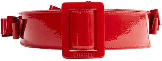 Chanel Red Patent leather Belts
