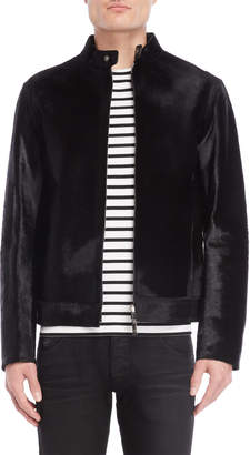 Emporio Armani Black Calf Hair Jacket