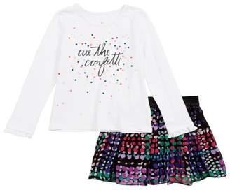 32b07a749 Kate Spade cue the confetti tee & skirt set (Toddler Girls & Little ...