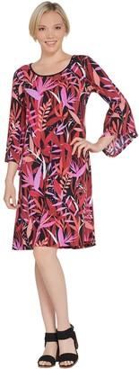 Bob Mackie Bob Mackie's Tropical Paradise Print Knit Dress