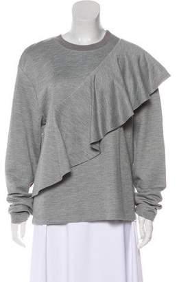 Diane von Furstenberg Ruffled Knit Sweater