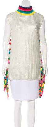 Mira Mikati Wool Ribbon-Accented Sweater