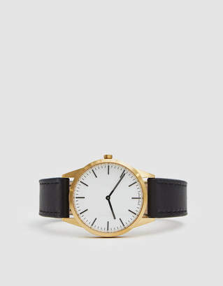 Uniform Wares C35 Two Hand Watch in Satin Gold