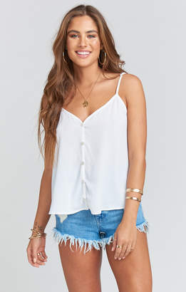 Show Me Your Mumu Cammys Cami ~ White Pebble