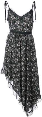 Paige floral asymmetric midi dress