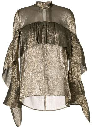 Petar Petrov sheer ruffled blouse