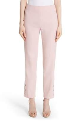 Lela Rose Button Hem Crop Pants