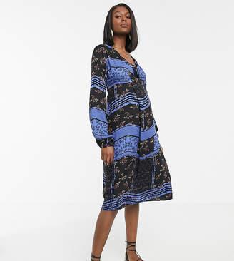 Mama Licious Mama.Licious Mamalicious maternity paisley print wrap dress