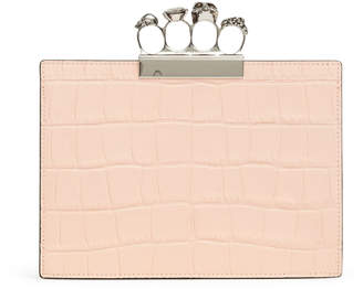 Alexander McQueen Four Ring Pouch blush clutch