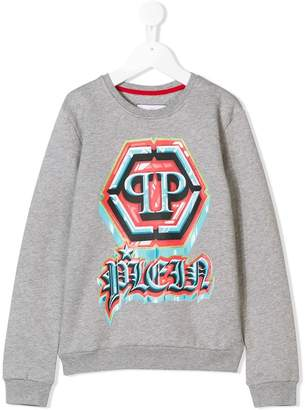 Philipp Plein Junior logo print sweatshirt