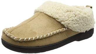 Dearfoams Women's Microsuede Clog with Whipstitch Tab and Memory Foam Low-Top Slippers,5-6 Uk (38-39 EU)