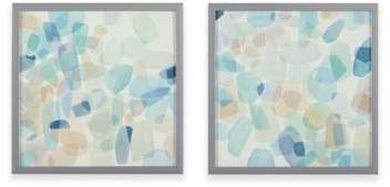 Intelligent Designs Gemstone Tiles Decorative Box Wall Art (Set of 2)