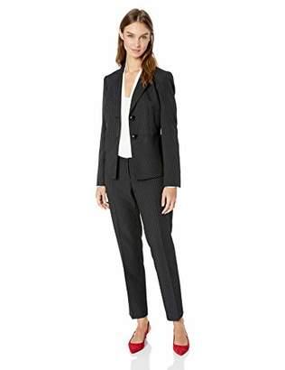 Le Suit Women's 2 Button Notch Collar DOT Pinstripe Pant Suit