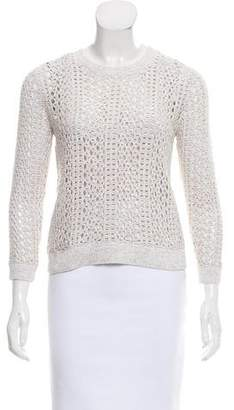 Theory Open-Knit Crew Neck Sweater