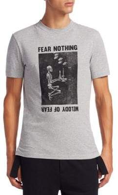 McQ Fear Nothing Cotton Crew Tee