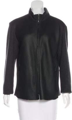 Armani Collezioni Shearling Zip Jacket