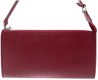 Louis Vuitton Pochette Accessoire Burgundy Leather Clutch Bag