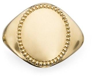 Women's Shinola Signet Ring $1,500 thestylecure.com