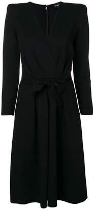 Emporio Armani belted tailored midi dress