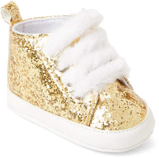 Rising Star (Infant Girls) Gold Glitter High-Top Sneakers
