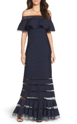 Women's Tadashi Shoji Jersey Gown $408 thestylecure.com