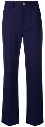 See by Chloe flared high waisted trousers
