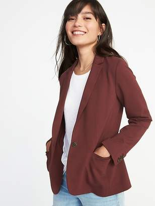 Old Navy Classic Ponte-Knit Blazer for Women