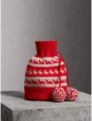 Burberry Drawstring Pom-pom Wool Cashmere Beanie