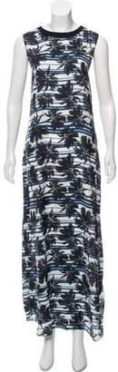 L'Agence Sleeveless Printed Maxi Dress
