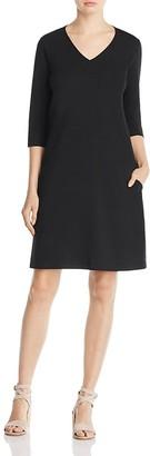 Eileen Fisher Organic Cotton V-Neck Dress $138 thestylecure.com