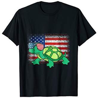 Turtle Reptile Animal Funny USA Sunglasses 4th Of July Shirt