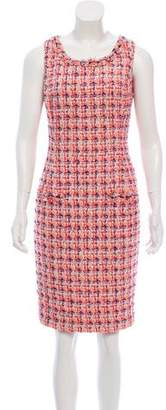 Oscar de la Renta Embellished Tweed Dress