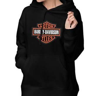 a26b76b51 Harley-Davidson Little Petman Women's Lone Sleeve Hoodies Sweatshirt  Fashion Graphic Pullover With Pocket