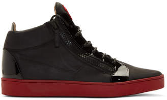 Giuseppe Zanotti Black and Red Brek Sneakers