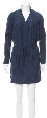 Edun Silk Button-Up Dress