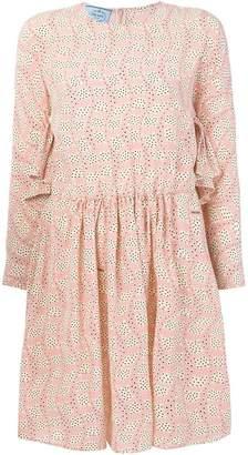 Prada printed long-sleeve mini dress