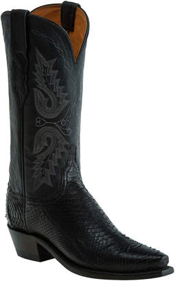 Lucchese Women's Black Python Western Leather Boot